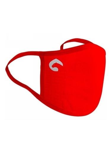 Panthzer  Viraloff Kulaktan Askılıyıkanabilir Dikişsiz Bez Maske Kırmızı